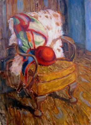 Fauteuil Chippendale  huile sur toile   VENDU