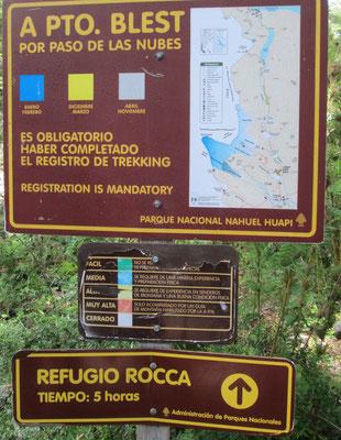 Von Pampa Linda über den Paso de las Nubes (Wolkenpass) zum Refugio Rocca