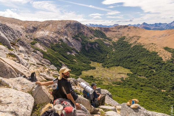 Cerro CAB: Blick auf das Mallín und die Campingzone