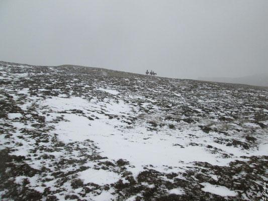 Plötzlicher Schneeeinbruch bei unserer Reittour mitten im Hochsommer