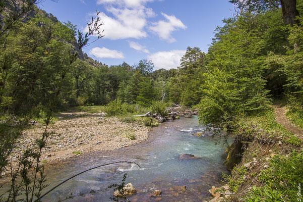 Von Pampa Linda zum Refugio Agostino Rocca, Río Alerce