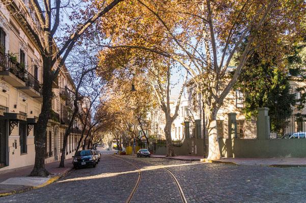 Leere Straßen in Buenos Aires
