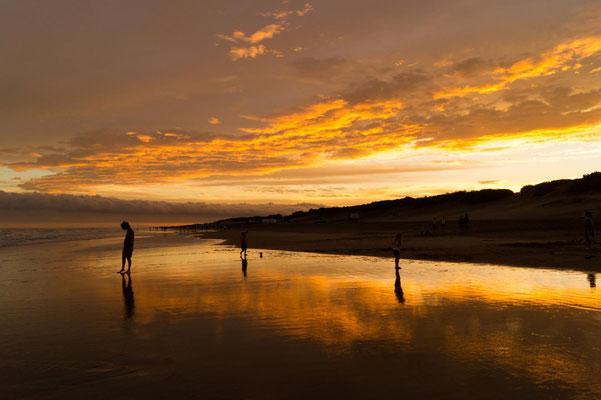 Sonnenuntergang in Mar de las Pampas