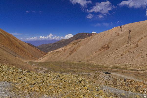 Die Materialseilbahn des Bergwerks La Mejicana wurde Anfang des 20. Jahrhunderts von einer deutschen Firma gebaut