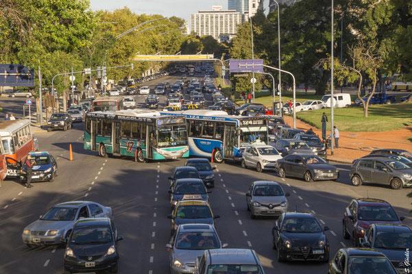 Verkehrschaos in Buenos Aires