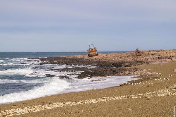 "Schiffswrack ""Chubasco"" in der Nähe von Cabo Raso"