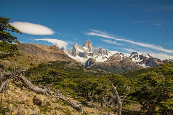Blick auf den Cerro Fitz Roy vom Mirador Fitz Roy