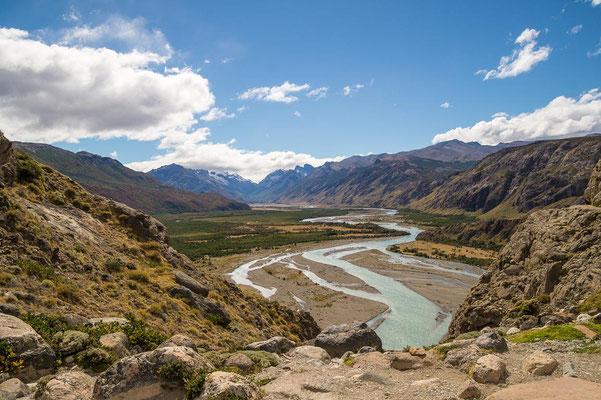 """Nach ein paar Höhenmetern erreichen wir den Aussichtspunkt """"Río de las Vueltas"""""""