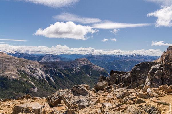 Cerro Cristal: die Anden liegen uns zu Füßen