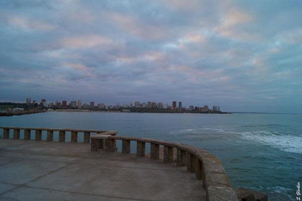 Blick auf Mar del Plata vom Hafen