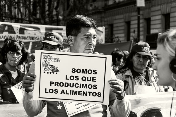 Fast alltäglich: Demos in Buenos Aires
