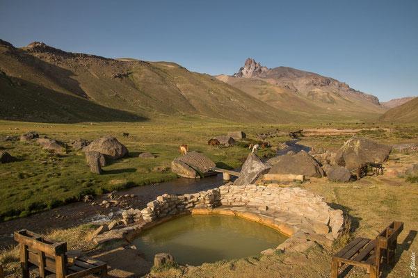 Heiße Quellen im Cajón Grande-Tal