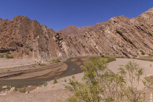 Felsformationen in der Quebrada de la Troya
