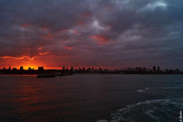 Sonnenuntergang in Mar del Plata