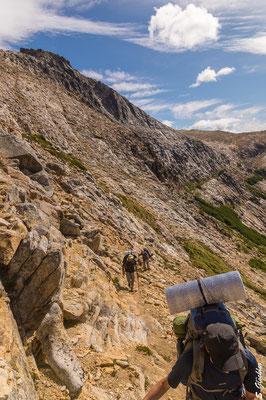 Aufstieg zum Cerro CAB