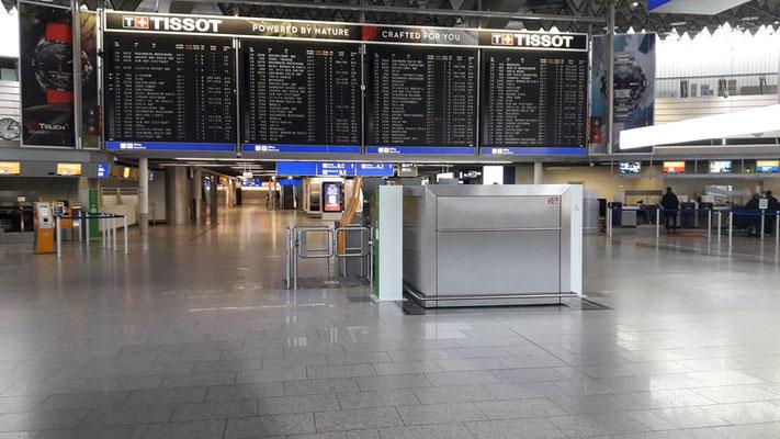 Januar 2021: gähnende Leere am Frankfurter Flughafen