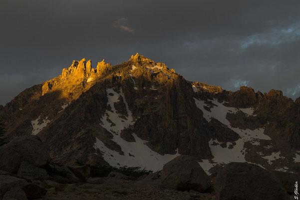 Cerro Catedral im Abendlicht