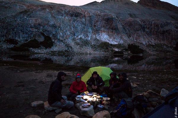 Romantisches Dinner an der Laguna Cretón ;-)
