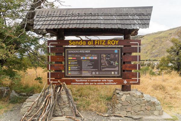 Startpunkt der Wanderung zur Laguna de los Tres