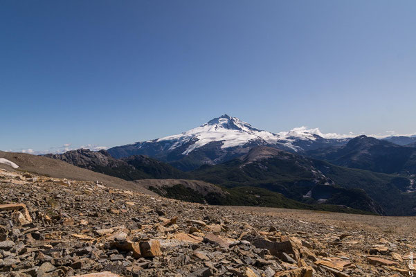 Tronador vom Cerro Capitán aus betrachtet