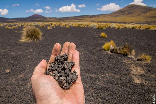 Lapilli-Vulkangestein