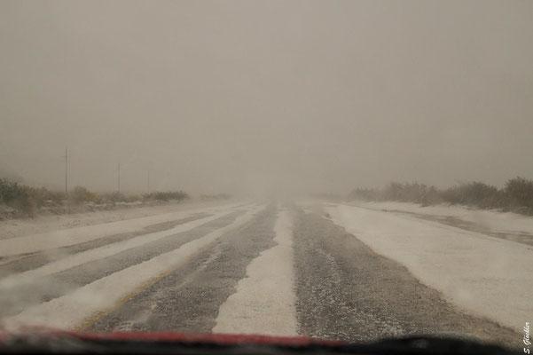 Schneeregen auf der 40