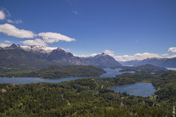 Blick vom Cerro Campanario, einem der Hausberge Bariloches.