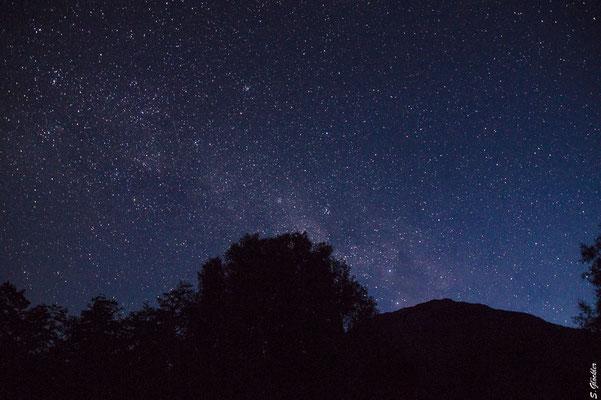 Nach 12 Stunden Wandern entschädigt der schöne Sternenhimmel für die Anstrengung