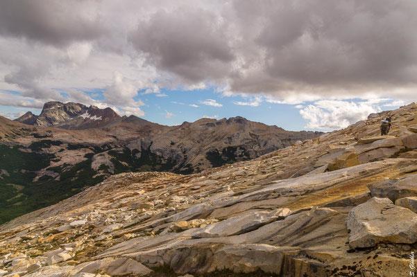 Im Hintergrund der Cerro Bonete, davor unser morgiger Gipfel, der Cerro Cristal.
