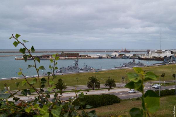 Blick auf den Hafen von Mar del Plata