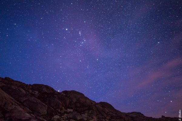 Sternenhimmel über der Laguna Cretón