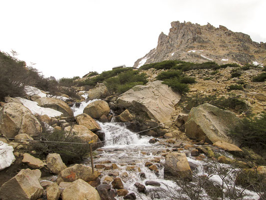 Aufstieg zum Refugio Frey