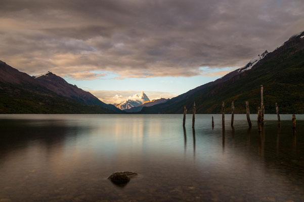 Morgenstimmung am Lago del Desierto mit Blick auf den Fitz