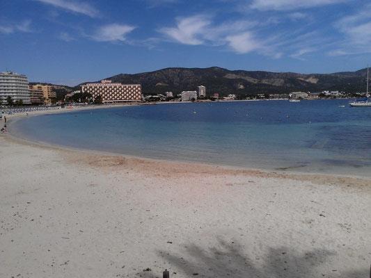 Magalluf - viele große Hotels am Strand