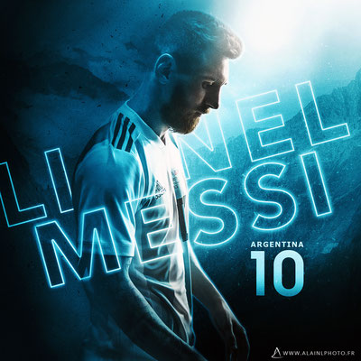 Lionel Messi - Football Design
