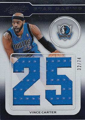 2012-13 Absolute Star Gazing Jersey Number Materials #2 Vince Carter