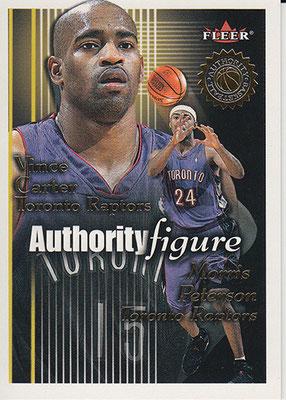 2000-01 Fleer Authority Figures #AF6 Vince Carter