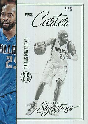 2012-13 Panini Signatures Stars Green #201 Vince Carter