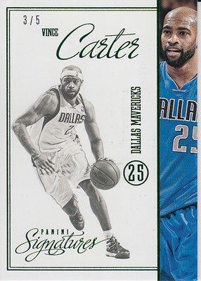 2012-13 Panini Signatures Stars Green #208 Vince Carter
