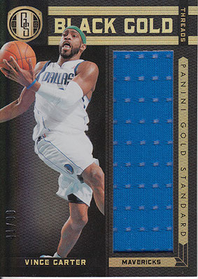 2011-12 Panini Gold Standard Black Gold Threads #71 Vince Carter