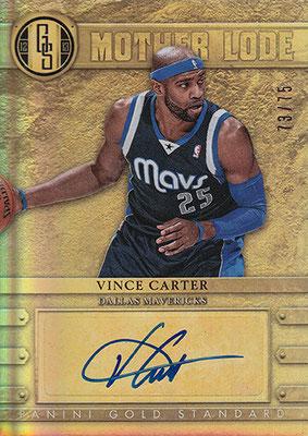 2012-13 Panini Gold Standard Mother Lode Autographs #26 Vince Carter
