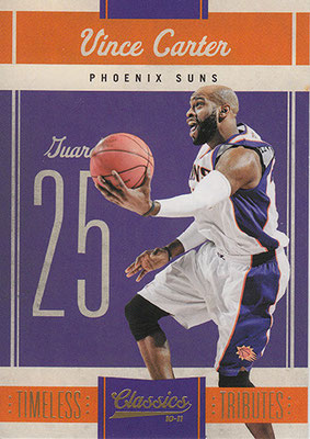 2010-11 Classics Timeless Tributes Gold #25 Vince Carter