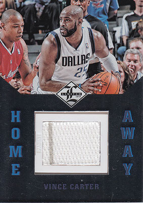 2012-13 Limited Home and Away Materials #15 Vince Carter
