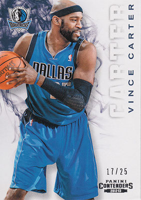 2012-13 Panini Contenders #196 Vince Carter
