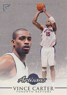 1999-00 Topps Gallery Player's Private Issue #114 Vince Carter ART