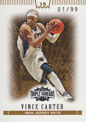 2007-08 Topps Triple Threads Sepia #35 Vince Carter