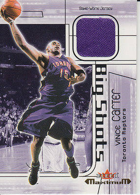 2001-02 Fleer Maximum Big Shots Jerseys #11 Vince Carter