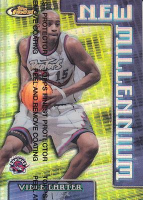 1999-00 Finest New Millennium Refractors #NW2 Vince Carter