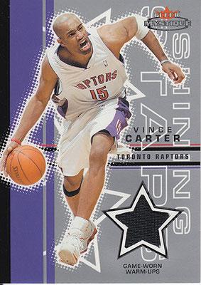 2003-04 Fleer Mystique Shining Stars Warmups #SSVC Vince Carter