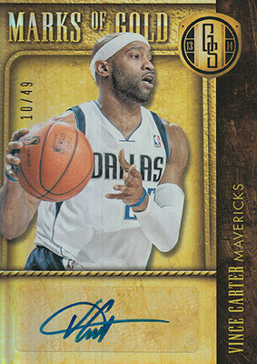 2013-14 Panini Gold Standard Marks of Gold #35 Vince Carter